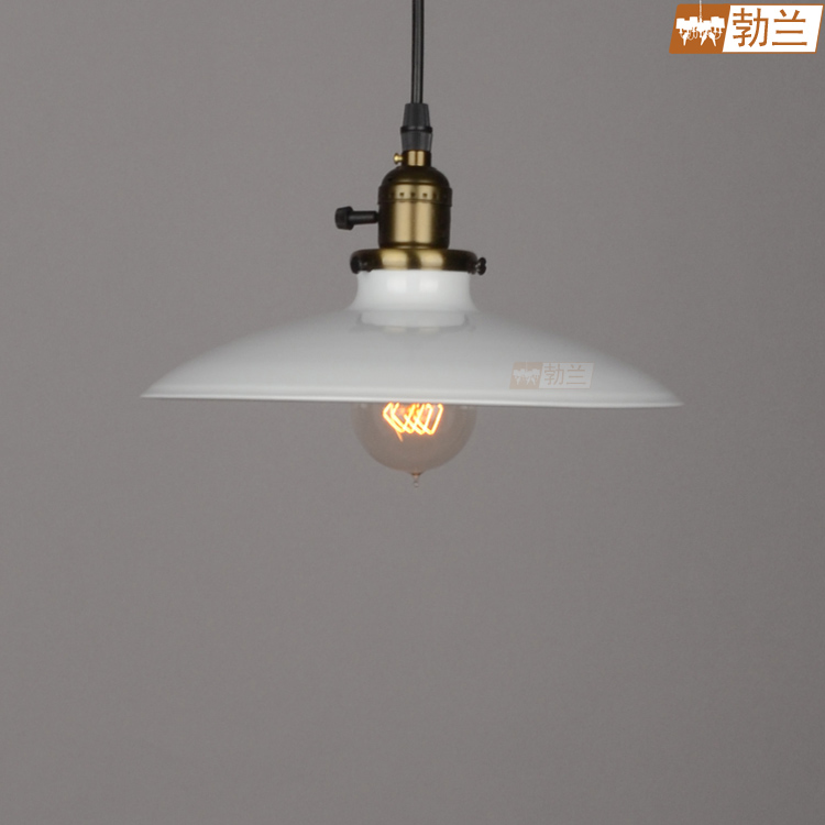 Lighting american vintage white iron lid pendant light bedroom lamp<br><br>Aliexpress