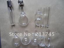Top Hot Mix Handcraft Clearly Glass DIY Purfume Vial Pendants Mental Cap BS2298 rice art pendant(China)