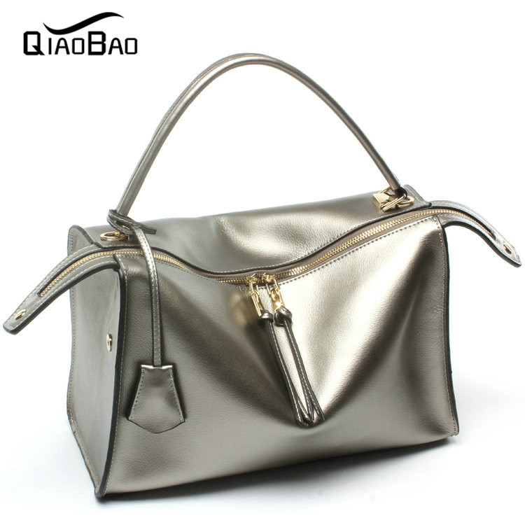 QIAO BAO 100% Genuine leather bag women messenger bags luxury handbags women bags designer shoulder bags famous brands bolsos<br><br>Aliexpress