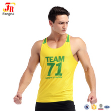 Manufacturer Wholesale Printed Sleeveless T-Shirt Men Basketball Jersey Tank Top Gym Sports Training Vest in Perforated Fabric(China)