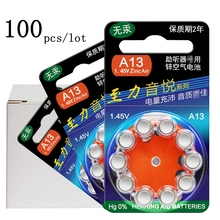 100 Pieces Zinc Air Hearing Aid Batteries A13 13A 13 P13 PR48 Free Shipping 60 PCS For Hearing Aids(China)