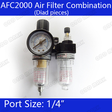 "Free Shipping AFC2000 Air Filter Regulator Combination AFC2000 Lubricator Combinations, 1/4"" Port FRL Union Air Treatment(China)"