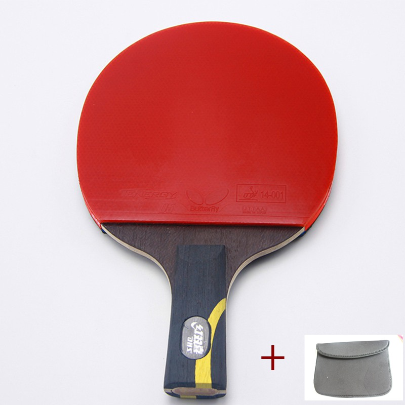 The best quality high end professional wooden handle grip to table tennis racket shake hand pingpong racket paddle rubber bats<br><br>Aliexpress