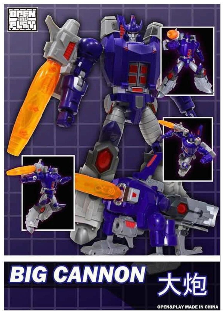 Transformers toy OpenPlay Big Cannon Galvatron Loose Version w//o Box in stock!