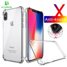 FLOVEME Anti-knock Clear Case For iPhone X iPhone 8 8 Plus Case Cover Mobile Phone Bag Cases Soft Silicone Cover For iPhone X 10(China)