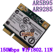 Atheros 9285 AR5B95 AR9285 802.11B/G/N 150Mbps Wlan Half Mini PCI-E WiFi Wireless Card For DELL ASUS ACER SONY Toshiba notebook