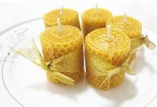 natural bee wax mini candle healthy environmentally friendly candle hand roll candle home decoration creative gift(China)