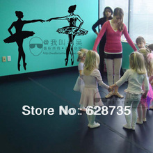 Dancing Ballet Girls Wall Decal Sticker Words for Children Kids Room Dancing Room Dance training sites Free Shipping,95x65cm