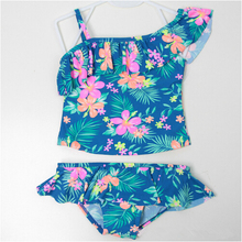 Baby Swimwear Girls 2 Pieces with Flowers Pattern 2-7 Y Kids Tankini set Children Swimming suit Beach Swim wear sw0664