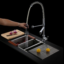 Brass Deck Mounted Single Handle Hot and cold water Extended two function filter kitchen mixer faucet,Chrome