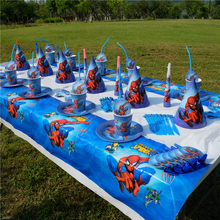 Spiderman Superhero Avengers Kids Birthday Party Decoration Set Party Supplies Baby Birthday Pack event party supplies AW-1664(China)