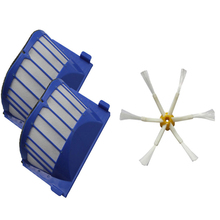 2 x AeroVac Filter + Brush 6 armed for iRobot Roomba 500 600 Series 620 630 650