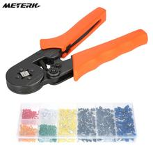 Multi Cable Wire Crimper Ferrule Crimping Pliers Tool + 800Pcs Copper Insulated Cord Pin End Crimp Terminal Wire Connector