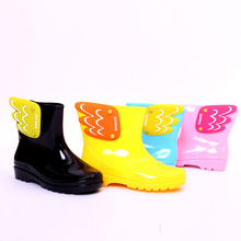 MAGGIE'S WALKER Baby Boots Kid Rain Boots Mid Cut Kids Fashion Water Shoes Cartoon Wing Fly Waterproof Rubber Boots Jelly Shoes(China)