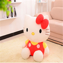 20cm High-quality Pink hello kitty plush toys Stuffed dolls for girls kids toys gift(China)