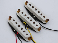 Relic/Aged Vintage Pickups for Strat/Tele Guitars, Braided Wiring, Alnico 5 Magnets, White
