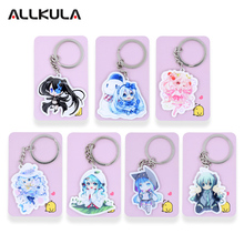 Hatsune Miku acrylic Keychain Action Figure Pendant Car Key Accessories Cute Japanese Anime Game Key Ring SS78-84(China)