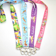 Free Shipping Tinkerbell Fairy Phone Lanyard Keys Id Neck Straps Toys(China)