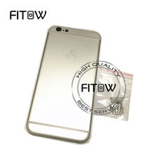 "Fitow Brand 100% A Quality Full Back Battery Cover Metal Back Housing For iphone 6 6G 4.7"" Color Gold /Silver /Gray /Rose Gold"