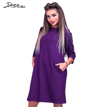 Women Elegant Plus Size Shift Office Dress Brief O Neck Casual Loose Business Wear to Work Dress Oversize Dress 5XL 6XL Clothing