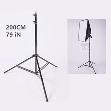 Max 200Cm ( 6.6Ft 79inches )  Photo light stand  1/4 Screw Head Tripod photography Softbox Video Flash Umbrellas Lighting stand