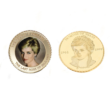 The Royal Diana 24k Gold Coin The Princess 20th Anniversary Souvenir Coin Challenge Metal Crafts Value Collect(China)
