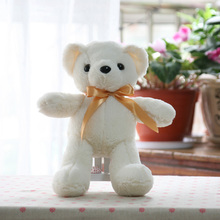 35cm Lovely Bears Stuffed Animals Soft Plush Toys Hot Selling Best Quality Plush Bear Dolls Bow/Necklace 5 Color(China)