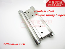 Wholesale 6in Door Adjustable Tension Double Action Spring Hinges swinging door hinge 2pcs/lot(China)