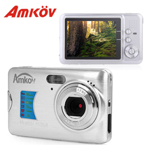 Amkov AMK-CDFE 8Mp Professional Camere Support multi-Language Mini Portable HD 2.7inch Screen Shooting Pocket Digital Camera(China)