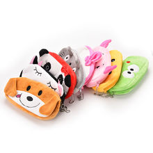 8 Paterrns Cartoon School Kids Pen Pencil Bag Case Cartoon HAND Plush Coin Purse Wallet Pouch Case BAG Women Pouch Beauty Holder