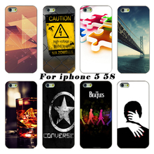 The latest fashion smartphone transparent PC shell casing For Apple iPhone 5 5s case mobile phone sets