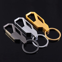 METAL MEN GIFT GOLDEN SILVER BLACK CAR KEYCHAIN KEYRING KEY CHAIN RING FOB 4S STORE GIFT BABY520(China)