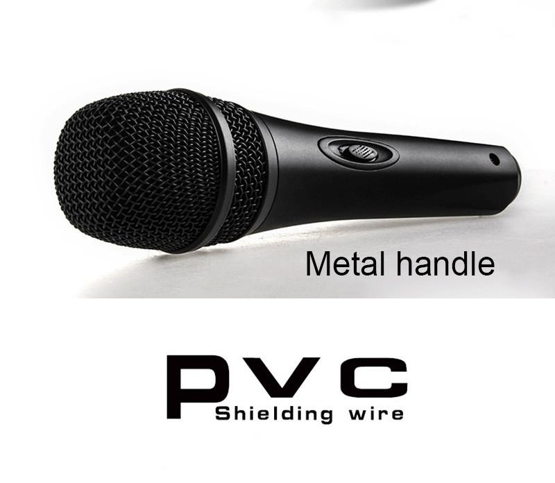 Quality Wired Dynamic Microphone Professional Mike Microfone Mikrofone Mic Singing KTV Karaoke Microphone System Microfono PVM02 (4)