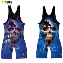 make your own usa wrestling singlet(China)
