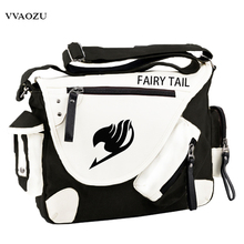 Fashion Japan Style Anime Fairy Tail Messenger Bag Brand New Erza Cosplay Casual Zipper Boys Girls Shoulder Bag(China)