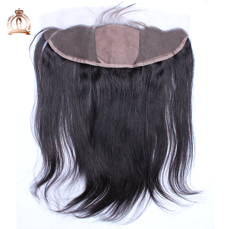 Silk Base Closure 6A Brazilian Virgin Hair Straight 13x4 Silk Base Lace Frontal Closure With Baby Hair Sunny Queen Hair Products<br><br>Aliexpress