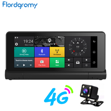 "Flordgramy 4G ADAS Car DVR GPS Navigation Camera 6.84"" Android 5.0 Bluetooth HD 1080P Video Recorder Registrar with two cameras"