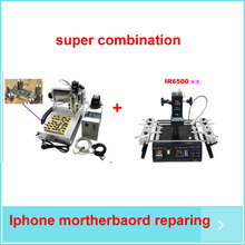 iphone chips ic repairing reballing rework machine + cnc chips grinding router for iphone(China)