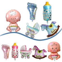 5Pcs/Set Boy Girl Baby Shower Foil Giant Christening Super Shape Balloons Party Decoration Kids