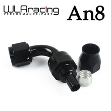 WLRING STORE- Black High Quality PTEF AN8 AN-8 90 DEGREE REUSABLE SWIVEL TEFLON HOSE END FITTING AN8 WLR-SL6090-08-021