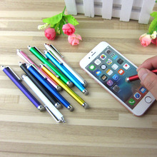 1000pcs/lot 10 Colors Universal Metal Mesh Micro Fiber Tip Touch Screen Stylus Pen For iPhone Samsung Smart Phone Tablet PC