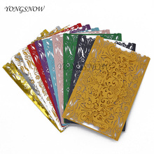 20Pcs/Lot Romantic Hollow Laser Cut Invitations Cards With Insert Paper  Wedding Party Birthday Decoration Business Supplies 9Z