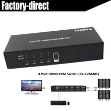 4-port HDMI USB KVM Switcher Switch 4X1 control up to 4 HDMI devices via single USB keyboard&mouse