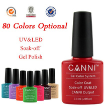 Popular ! 1Pcs CANNI UV/LED Soak Off Nail UV Gel Polish Varnishes Lacquer Color Coat (You Choose Colors) 77-91
