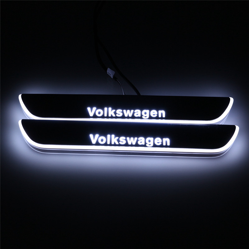 LED door sill for Volkswagen Vw Passat CC 2013 2014 2015 Led moving door scuff plate light welcome pedal accessories<br><br>Aliexpress