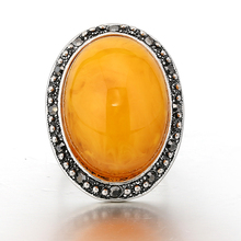 STOCK 2017 high quality new fashion elegant big natural yellow stone ring for women free samples OSR014