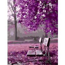 Frameless DIY Painting By Numbers Acrylic Paint On Canvas Handpainted Oil Painting For Home Decor Wall Purple romantic picture