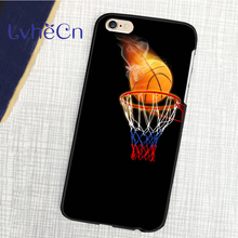 back skins mobile phone cases for iphone 4 4s 5 5s 5c SE 6 6s 7 7s plus 8 ipod touch 4/5/6 Fire Basketball Net Sport Style