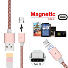 Metal Magnetic USB C Type C Charger Cable For Samsung S8 LG G5 G6 Oneplus 2 3T Huawei P9 P10 Plus Mate9 V8 V9 Android Phone