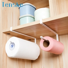 Tenske storage rack functional Under Cabinet Paper Towel Holder Roll Paper Towel Rack Stainless Metal Organizer*30 GIFT 2017